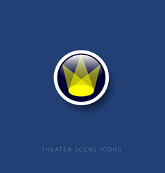 scene theater icon scene arena vector image