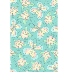 Seamles floral green pattern vector image