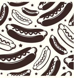Seamless pattern for hot dog diner vector