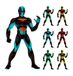 Set futuristic characters vector