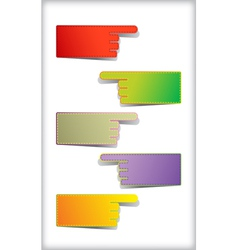 Set of blank stickers vector image