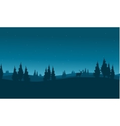 silhouette of snowing winter town vector image