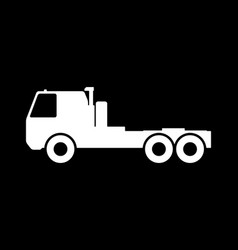 silhouette saddle truck vector image
