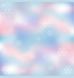 snowflakes with pastel background vector image