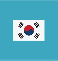 south korea flag icon in flat design vector image