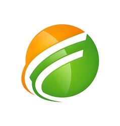 sphere loop abstract logo vector image