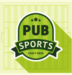 sport pub badge vector image