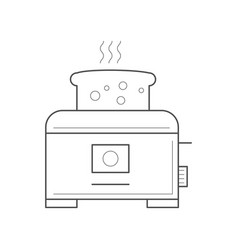 Toaster with a piece bread vector