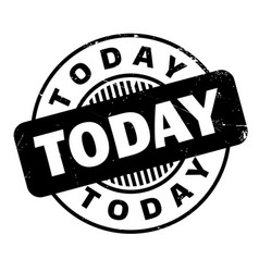 Today rubber stamp vector