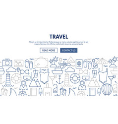 Travel banner design vector