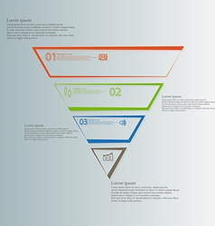 Triangle template horizontally divided to four vector