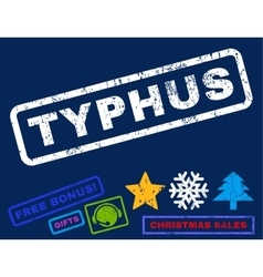 Typhus Rubber Stamp vector