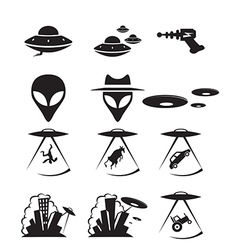 Ufo icons vector