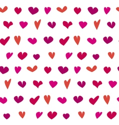 Valentine seamless polka dot pattern with hand vector