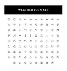 weather icon set with outline design vector image