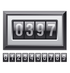 Web counter in frame vector