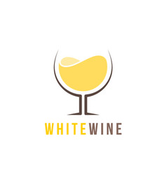 white wine logo template vector image