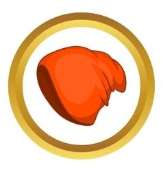 Winter snowboard cap icon vector image