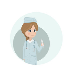 woman doctor or nurse vector image
