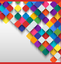 Abstract background of colored squares with space vector image vector image