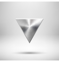 Abstract Triangle Button Template vector image vector image