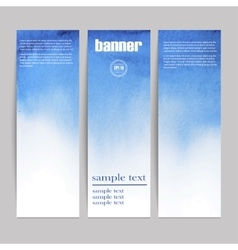 set of three watercolor banners vector image vector image