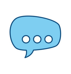silhouette chat bubbles to message icon vector image