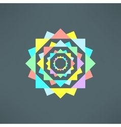 abstract geometric mandala in modern flat vector image