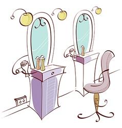 Beauty salon interior vector