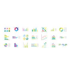 big set of infographics elements vector image