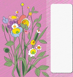 flowers card vector image vector image