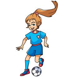 football playing girl vector image