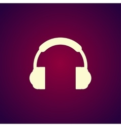 headphone icon Flat vector image