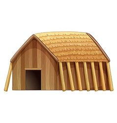 Log house vector image vector image