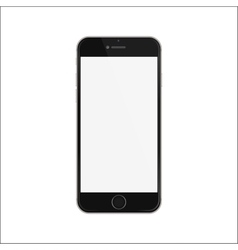 New version of black slim smartphone iphon style vector image vector image