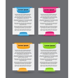 Set of trendy web banners vector image