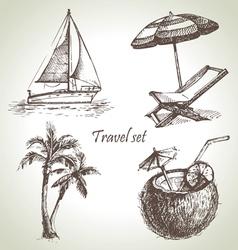 Travel set vector