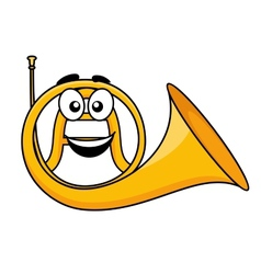Cartoon of a french horn vector image vector image