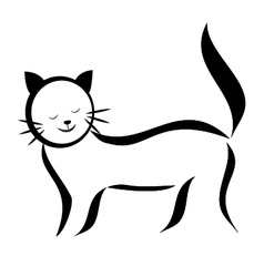 Cat silhouette logo vector image vector image