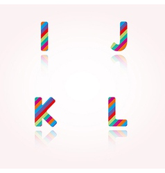 color alphabet letters vector image