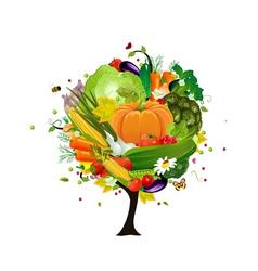 decorative tree vegetable vector image vector image