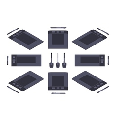 Isometric graphic tablet vector