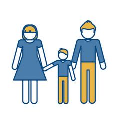 Pictogram family icon vector