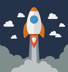 Rocket Flat Design vector image vector image