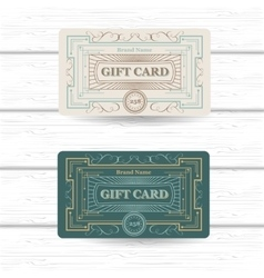 set of vintage ornament greeting or gift card vector image vector image