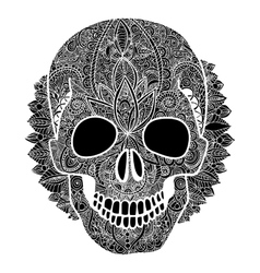 skull tatoo day of the dead vector image vector image