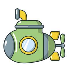 submarine military icon cartoon style vector image