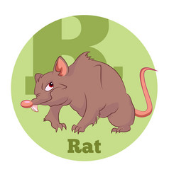 Abc cartoon rat vector
