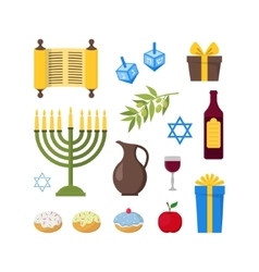Cartoon Hanukkah Set vector image