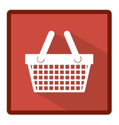 emblem basket shop icon vector image